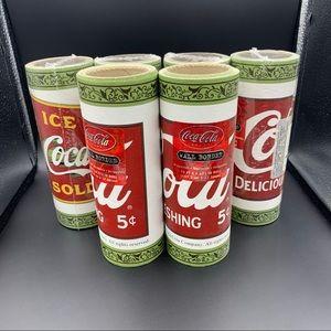 Vintage Coca Cola Wallpaper Lot of 6